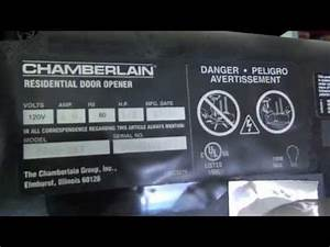 Chamberlain Garage Door Opener Wiring Diagram Part 423lm0A Diagram
