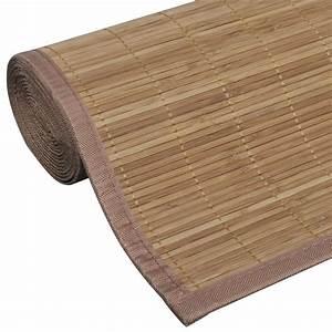 Tapis Bambou 200x300 : la boutique en ligne tapis en bambou brun latte rectangulaire 200 x 300 cm ~ Teatrodelosmanantiales.com Idées de Décoration