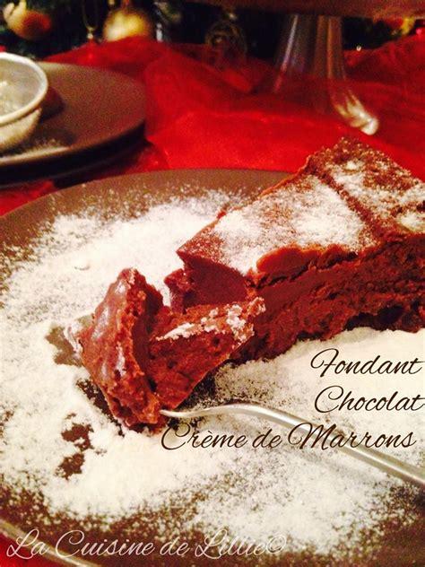 cuisiner les marrons frais fondant à la crème de marrons chocolat la cuisine de lillie