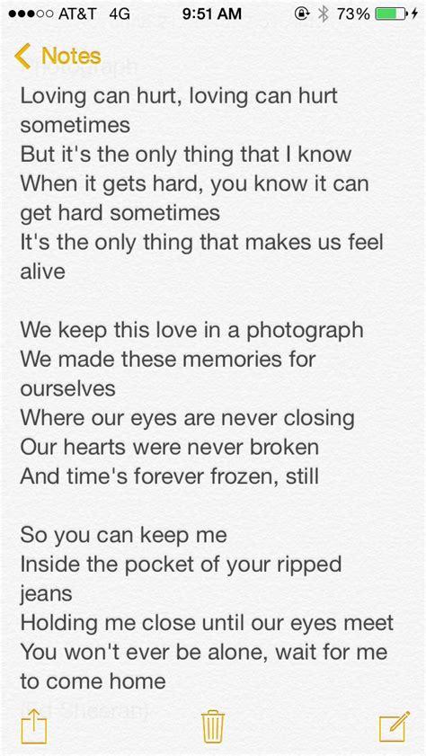 Ed Sheeran Photograph Love These Lyrics ️  Quotes And