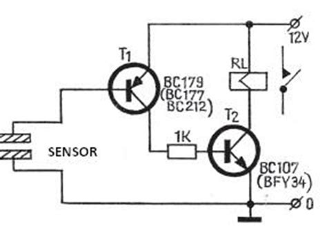 Touch Switch Circuit Diagram With Transistors