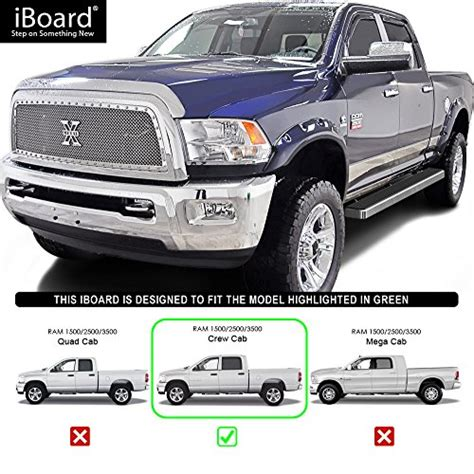 Best iBoard Running Boards 5 Custom Fit 2009 2018 Ram 1500