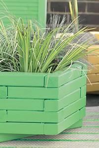 Repeindre Jardinire En Bois En Vert Et Jaune Peinture
