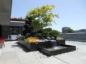 individuelle wasserspiele fur terrassen balkone und With französischer balkon mit wasserspiel garten modern