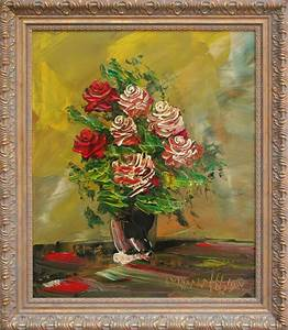 Morris Katz Red Roses Still Life Painting For Sale At