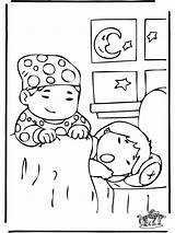 Sleep Coloring Slapen Colorear Schlafen Kinder Nino Dibujos Spanie Dibujo Children Colorare Kleurplaat Ausmalbilder Bambini Nukleuren Sonno Banandose Kinderen Kleurplaten sketch template