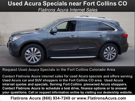 Flat Irons Acura by Used Acura Specials Serving Fort Collins Co Flatirons Acura