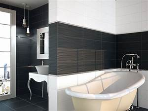enchanteur carrelage salle de bain noir brillant et With carrelage blanc brillant salle de bain