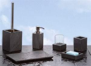 Bad Accessoires Set Schwarz : badezimmer accessoires petra aus naturschiefer in 6 varianten ~ Bigdaddyawards.com Haus und Dekorationen