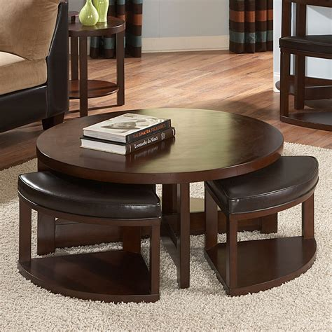Browse a variety of modern furniture, housewares and decor. Weston Home Brussel II Round Brown Cherry Wood Coffee ...