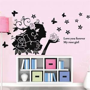 wall stickers for girls room peenmediacom With kitchen colors with white cabinets with gossip girl butterfly wall art