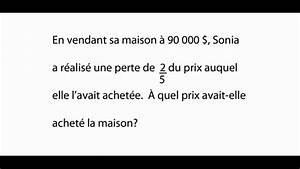 Probl U00e8me D U0026 39 Alg U00e8bre - Math U00e9matique Secondaire 2