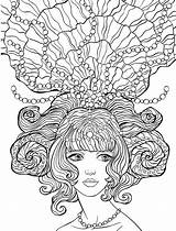 Coloring Crazy Pages Adult Hair Colouring Sheets Mandala Books Printable Woman Nerdymamma Adults Template Awesome Lady Drawings Nerdy Rapunzle Tps sketch template