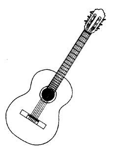 guitar  drawing google search coloring pages