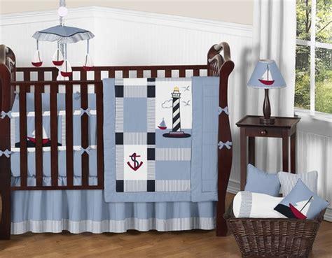 anchor crib bedding come sail away nautical baby bedding 9 pc crib set only