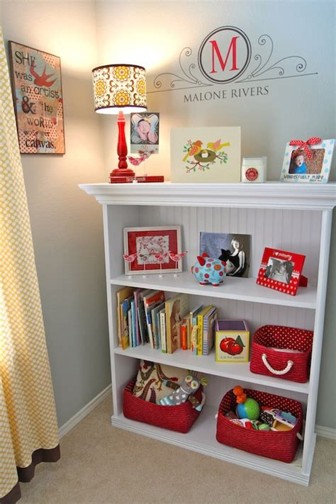 Bookcases For Nursery by Bookcase With Beadboard Trim Traditional Nursery