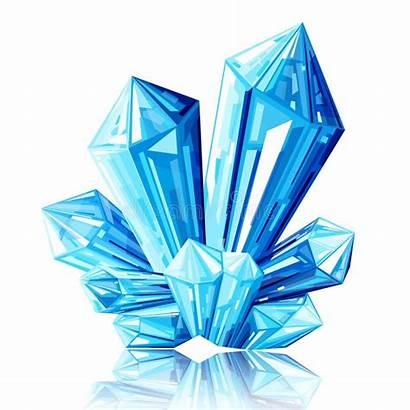 Crystal Ice Blauwe Illustratie Illustrazione Ghiaccio Blu