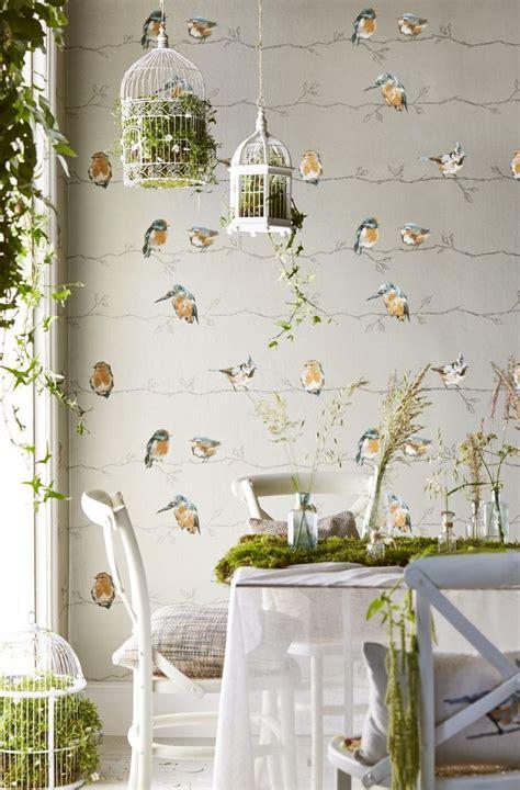 persico  harlequin tangerine duck egg wallpaper