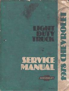 1978 Chevrolet Motorhome Chassis Owner U0026 39 S Manual Reprint