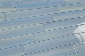 light blue mix 2x12 subway glass tile for kitchen