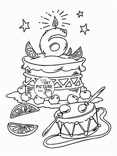 Coloring Birthday Happy Pages Anniversary Printable Holiday