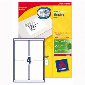 avery l7169 100 block out shipping labels 4 per sheet 139 With avery shipping labels 4 per page