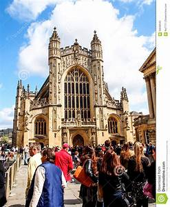 Tourists In The History Site Roman Bath, UK Editorial ...