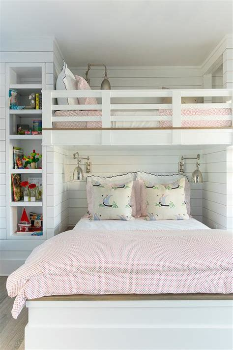 Shiplap Bed by Shiplap Loft Bed With Swing Arm Sconces Cottage S