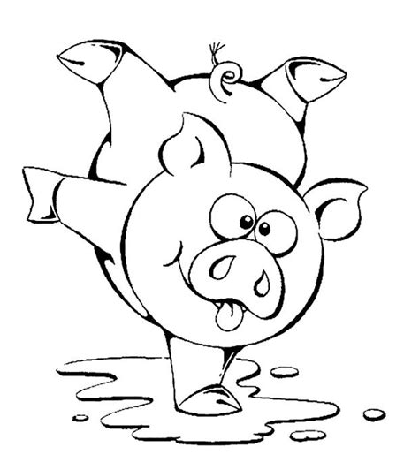 Cute Pig Coloring Printable Kids Coloring Pages