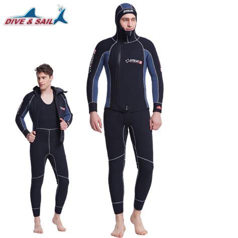professional mm wetsuit men  hood neoprene scuba