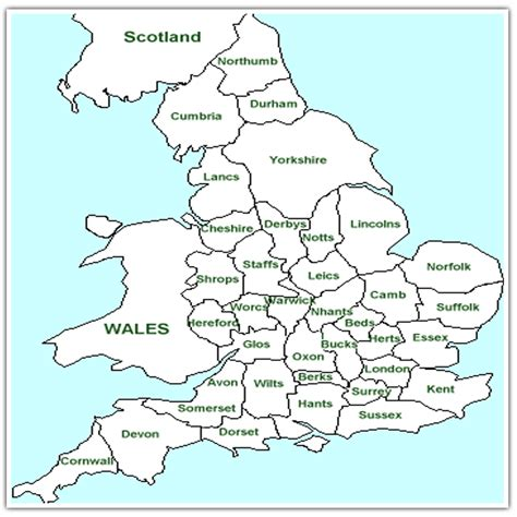 maps  england   counties tourist  blank maps