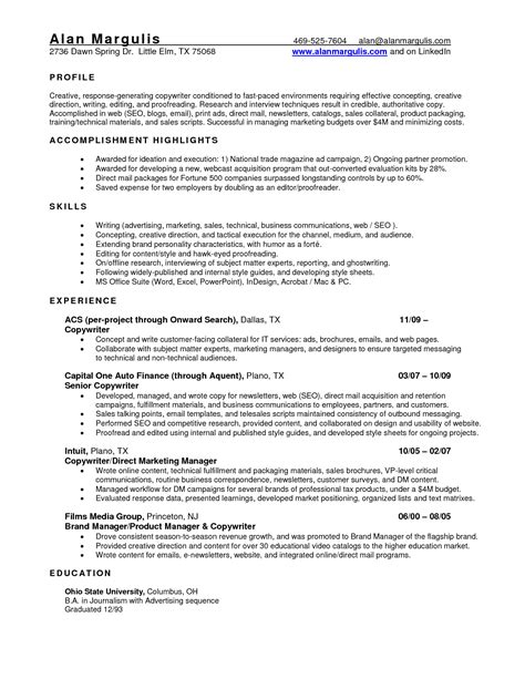 simple resume sles auto finance manager cover letter template
