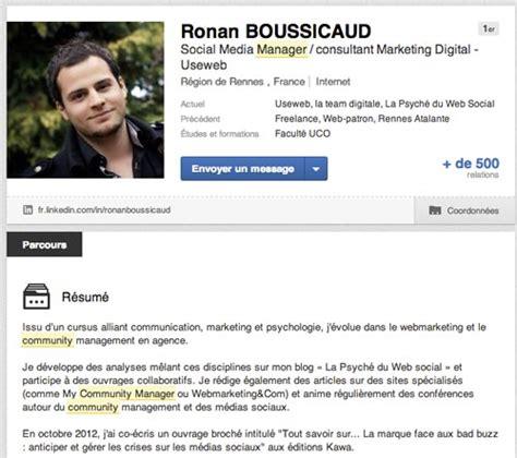 Linkin Resume by 7 Conseils Pour Am 233 Liorer Votre Profil Linkedin Social