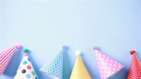 colorful party hats  kids stock footage video