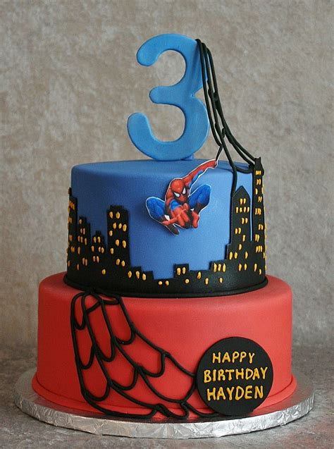 spiderman birthday cake themes cake pictures