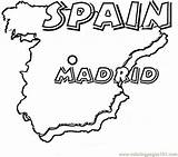 Spanish Map Coloring Spain Pages Coloringpages101 sketch template