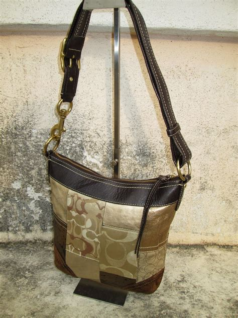 drayakeebag authentic coach gold patchwork shouldersling bagsold