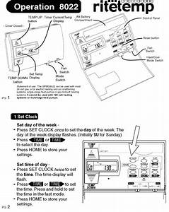 Ritetemp 8022 Thermostat Operation Pdf View  Download