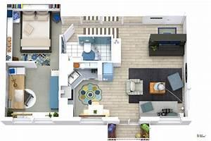 Kleine Wohnung Einrichten : roomsketcher wohnidee kleine wohnung mit stauraum ~ Michelbontemps.com Haus und Dekorationen
