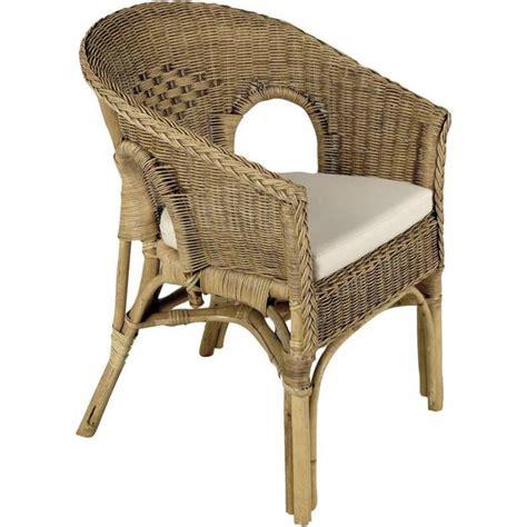 siege en osier fauteuil en rotin patiné marron 57x57x80cm achat vente