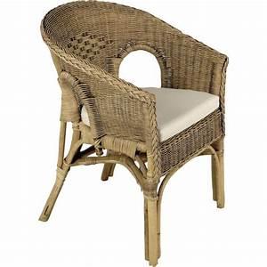 Fauteuil En Osier : fauteuil en rotin patin marron 57x57x80cm achat vente ~ Melissatoandfro.com Idées de Décoration