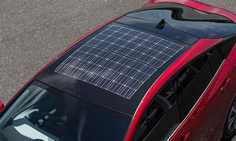 panasonic powers prius glass solar roof  model