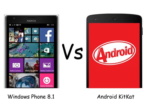 windows phone vs android windows phone 8 1 vs android kitkat what you need to
