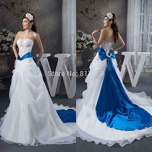 bwd2047 royal blue and white wedding dresses in wedding With white and royal blue wedding dress
