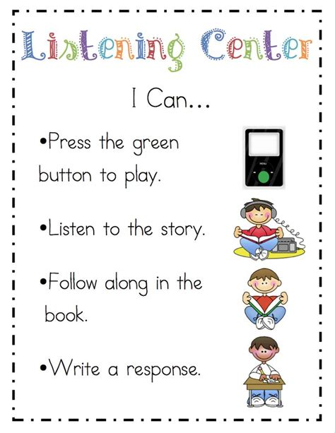 25 best ideas about kindergarten listening center on 228 | 026e12e70ff4f1360e8408637ca998b3 kindergarten literacy centers literacy stations