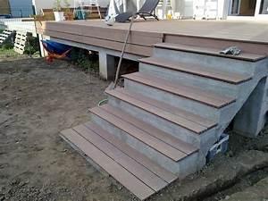 Escalier Terrasse Bois : amenagement exterieur la construction de notre maison ~ Nature-et-papiers.com Idées de Décoration