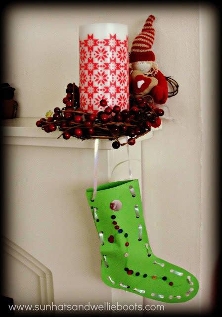 sun hats wellie boots christmas stockings threading