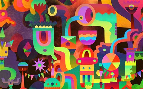 colorful pattern abstract design wallpaper 1680x1050