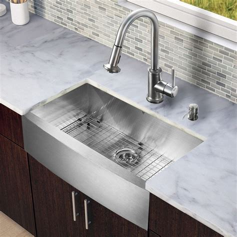 Overstock Stainless Kitchen Sinks by Vigo All In One 33 Inch Farmhouse Stainless Steel Kitchen