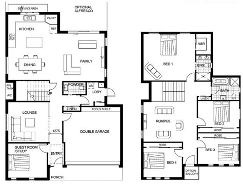 two floor plans 2 y house floor plan autocad lotusbleudesignorg house